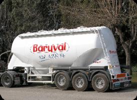 BARYVAL naczepa silos do cementu, suchej masy